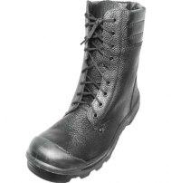 """Ботинки кожаные с высоким берцем """"Вектор"""" с металлическим подноском"""