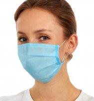 Гигиенические трехслойные защитные маски