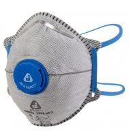 JM8626 Полумаска фильтрующая для защиты от аэрозолей, чашеобразная, класс защиты FFP2 NR D, с клапаном выдоха, угольным фильтром