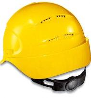 Каска защитная Uvex ЭЙРВИНГ 9762 оголовье с храповиком желтая