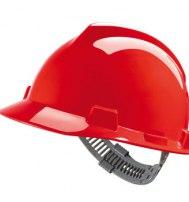 Каска защитная ВИ-ГАРД (V-Gard) с оголовьем СТАЗ-ОН (MSA) красная