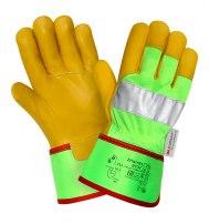 Кожаные перчатки повышенной видимости
