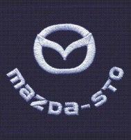 Логотип Mazda шеврон нагрудный