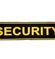 "Нашивка ""SECURITY"" (спина) 296 х 77 мм"