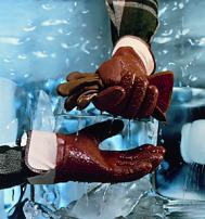 Перчатки Ansell ВИНТЕР МАНКИ ГРИПП трикотажная манжета, гладкая поверхность (23-