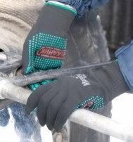 Перчатки «Механик Блэк» нейлоновые с ПВХ