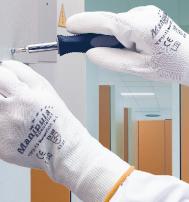 Перчатки «МикроПОЛ» TPU-12 нейлон с п/у, черный