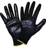 Перчатки нейлоновые с нитриловым покрытием черные