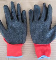 Перчатки нейлоновые с текстурированным латексным покрытием