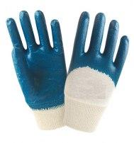 Перчатки нитриловые частичное покрытие, манжет