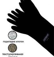 Перчатки пескоструйщика резиновые, текстурированные, типа RGA (800 мм)