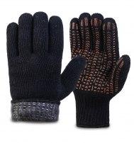 Перчатки полушерстяные с шерстяным вкладышем, с внутренним начесом