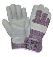 Перчатки спилковые комбинированные утепленные (искусственный мех)