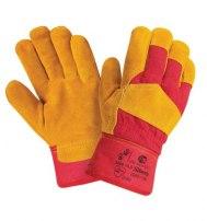 Перчатки спилковые комбинированные утепленные (искусственный мех)  Siberia (Премиум класса)