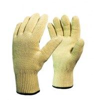 Перчатки трикотажные из арамидной нити «Кевлар» с хлопковой подкладкой (150-250 градусов)