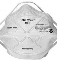 Противоаэрозольная полумаска фильтрующая 3М (респиратор) VFlex™ 9101 (Ви Флекс) FFP1, до 4 ПДК