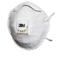 Респиратор для защиты от пыли и туманов 3М 8122 с клапаном выдоха, 2-й степени з