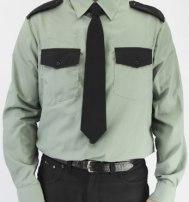 Рубашка охранника оливковый цвет (длинный и короткий) рукав