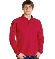 Рубашка поло мужская классическая с длинным рукавом