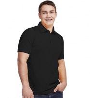 Рубашка поло мужская с планкой на три пуговицы