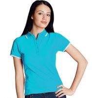 Рубашка поло женская с окантовкой