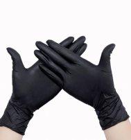 Перчатки Супермакс нитриловые, неопудренные, текстурированные на пальцах, черные