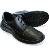 Туфли мужские черные на шнурках с перфорацией