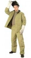 Костюм сварщика: куртка, брюки с налокотниками и наколенниками