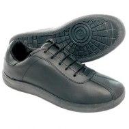 Кроссовки кожаные черные мужские/женские на шнурках