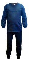 Нательное белье синее с начесом 100% х/б (зимнее)