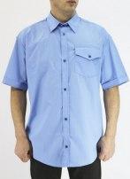 Рубашка охранника голубая (без черных вставок) короткий и длинный рукав