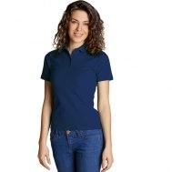 Рубашка поло женская на четырех пуговицах
