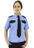 Рубашка женская охранника, короткий и длинный рукав, на поясе