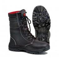 """Зимние ботинки с высоким берцем """"Scorpiones"""" юфтевые Нитрил на искусственном меху"""